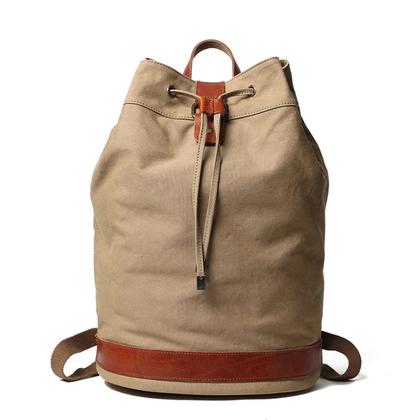 Canvas With Leather Casual Backpack Travel Backpack Laptop Backpack School Backpack FX888137