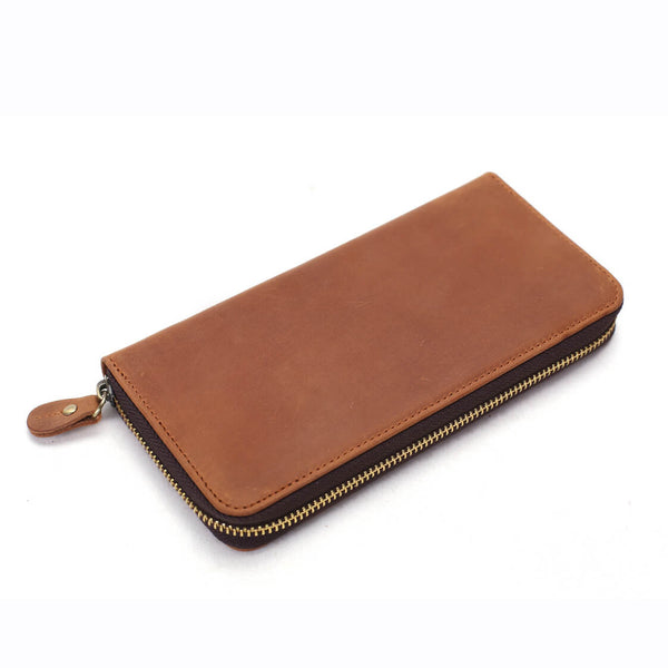 Custom Wholesale Full Grain Leather Wallet, Men Long Wallet, Money Purse Card Holders B-200 - ROCKCOWLEATHERSTUDIO