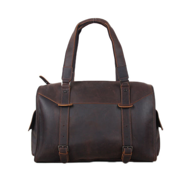 595bf04361c5 Genuine Leather Travel Bag Men Duffle Bag Large Capacity Gym Bag With  Shoulder Strap 3002