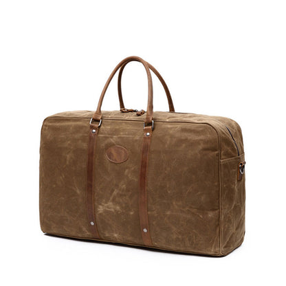 Waxed Canvas Travel bag, Simple Design Weekend Overnight Bag, Gym Bag FX001