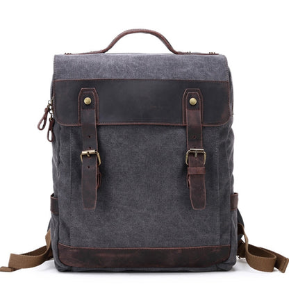 Waxed Canvas School Backpack, Casual Daily Backpack, Hiking Bag FX064-2