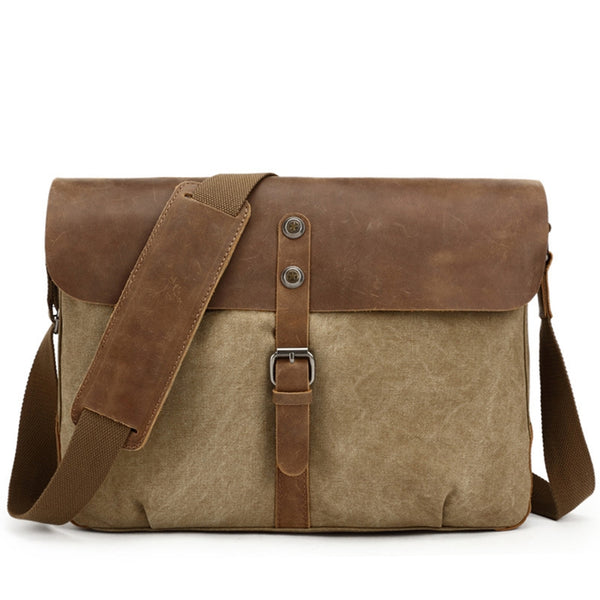 022464878ffb ... Canvas With Leather Messenger bag