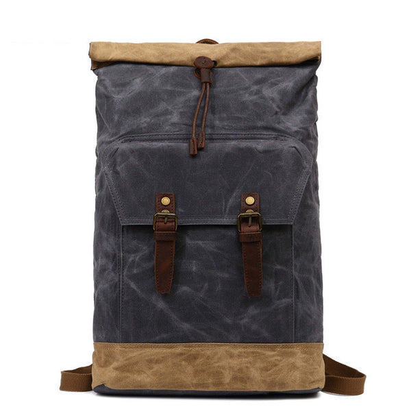 Waterproof Canvas Backpack, Handmade Travel Bag, Laptop Bag FX903