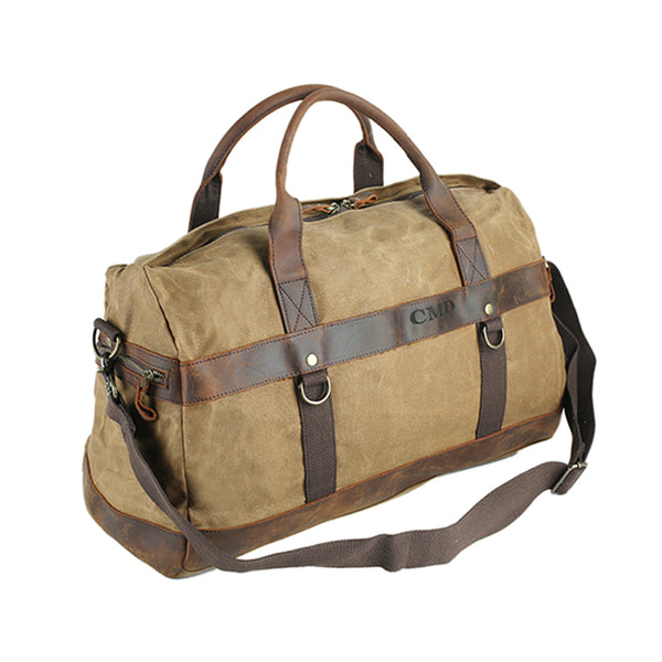 Flash Sale Canvas Travel Bag Waxed Canvas Mens Duffle Bag Gym Bag Weekenders Bags FX8826 - ROCKCOWLEATHERSTUDIO