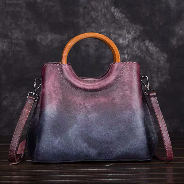 Full Grain Leather Shoulder Bag Women Leather Handbag Natural Leather Crossbody Bag Tote Bag AFS101
