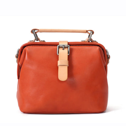 Full Grain Leather Handbag, Small Satchel, Messenger Bag, Leather Shoulder Bag for Women WF38