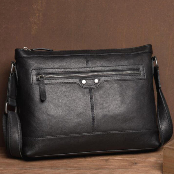 Full Grain Leather Shoulder Bag Casual Messenger Bag Men Crossbody Bags MSG8208