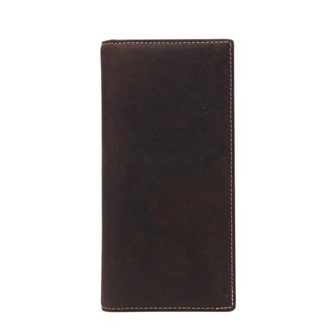 Handmade Genuine Leather Wallet Men Long Wallet Money Purse Card Holder 196-1 - ROCKCOWLEATHERSTUDIO