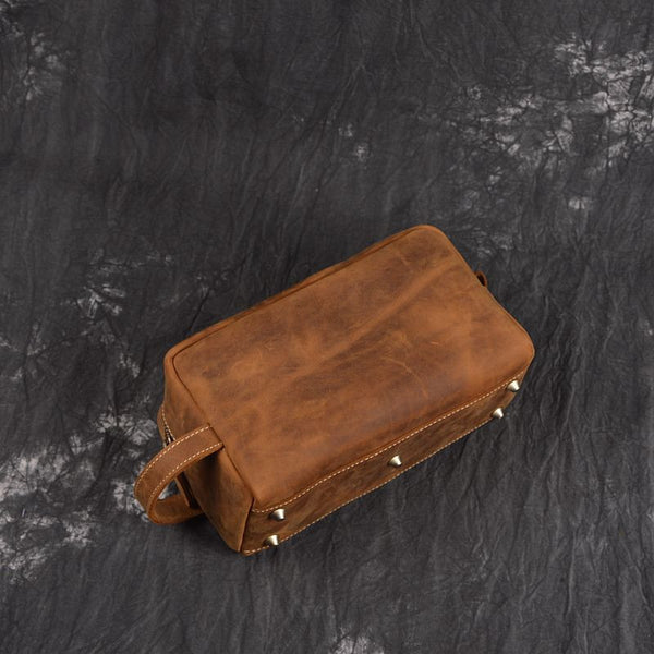 dbd089d049 ... Handmade Italian Full Grain Vegetable Tanned Leather Pouch Bag Clutch  Bag Comestic Bag 2025 - ROCKCOWLEATHERSTUDIO ...