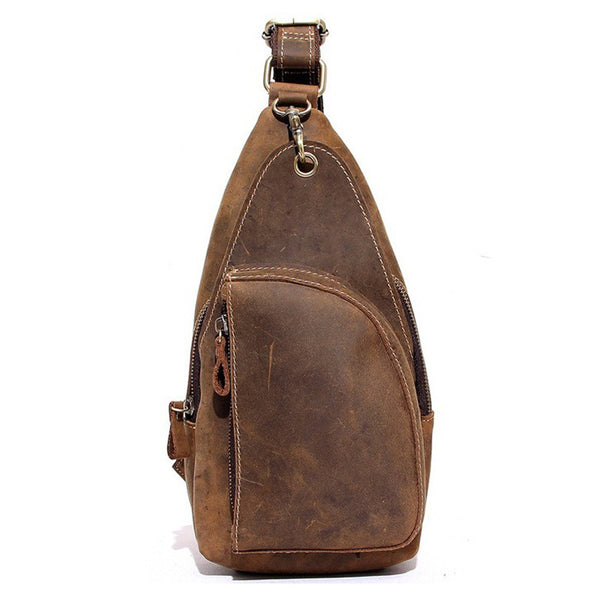 Genuine Leather Men Chest Bags Leisure Chest Pack Men Messenger Bags 8888 - ROCKCOWLEATHERSTUDIO