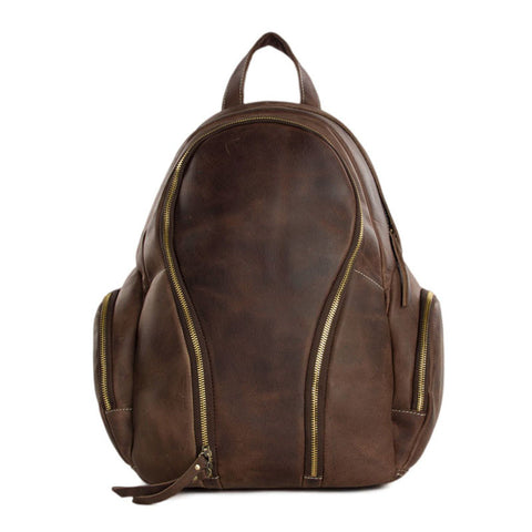 Men&Women Genuine Leather Travel Backpack Climbing Bag Luggage Duffle Bag Large JW10 - ROCKCOWLEATHERSTUDIO