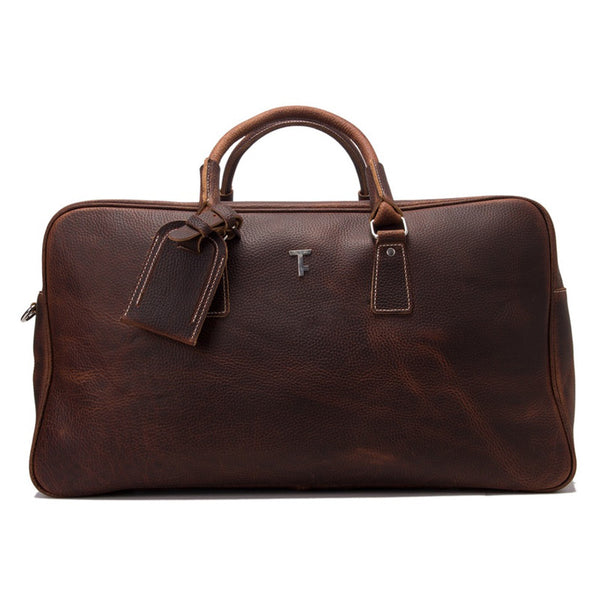 Handcrafted Vintage Genuine Leather Travel Bag Leather Duffle Holdall Weekend Bag Luggage Bag 7156C - ROCKCOWLEATHERSTUDIO
