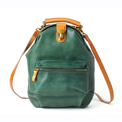 Handmade Full Grain Leather Backpack,  Shoulder Bags, Casual Satchel Bag 14107