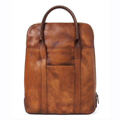 Handmade Full Grain Leather Briefcase, Men's Business Bag, Men Fashion Laptop Bag 14500