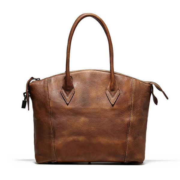 Handmade Full Grain Leather Women Handbag, Designer Handbag, Leather Satchel 9038 - ROCKCOWLEATHERSTUDIO