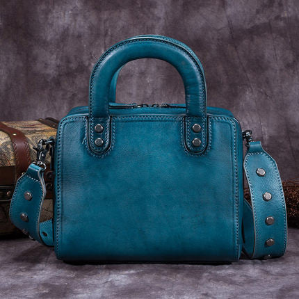 Handmade Full Grain Leather Women Handbag, Designer Handbag, Leather Satchel Bag A0152 - ROCKCOWLEATHERSTUDIO