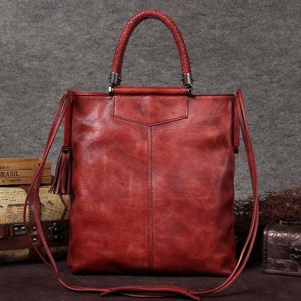 Handmade Full Grain Leather Women Satchel Bag, Shoulder Bag, Ladies Handbag A0031