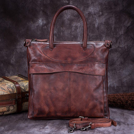 Handmade Full Grain Leather Women Tote Bag, Shopper Bag, Ladies Handbag A0156 - ROCKCOWLEATHERSTUDIO