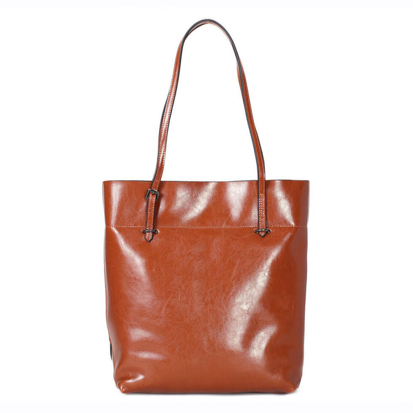 Handmade Full Grain Leather Women's Fashion Tote Handbag, Vintage Shoulder Bag, Shopper Bag 14149 - ROCKCOWLEATHERSTUDIO