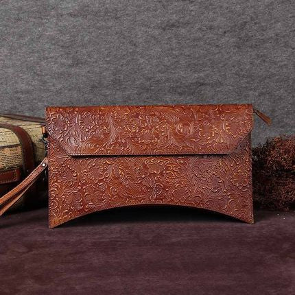 Handmade Genuine Leather Travel Wallet, Clutch, Vintage Full Grain Women Wallet A0037