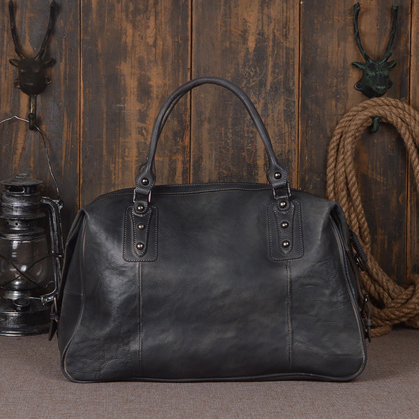 Leather Duffel Bag for Men and Women Travel Luggage Gym Tote Bag 9029 - ROCKCOWLEATHERSTUDIO