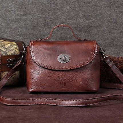 Handmade Leather Messenger Bag, Cross-body Shoulder Bag, Women Satchel Bag A0002