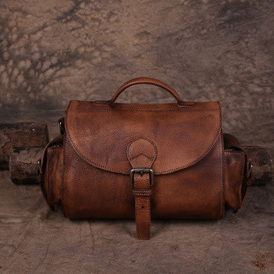 Handmade Vintage Leather Bag Travel Bag Ladies Messenger