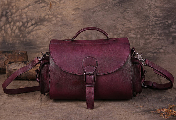 Handmade Vintage Leather Bag, Travel Bag, Ladies Messenger Bag, Sling Bag 180082 - ROCKCOWLEATHERSTUDIO