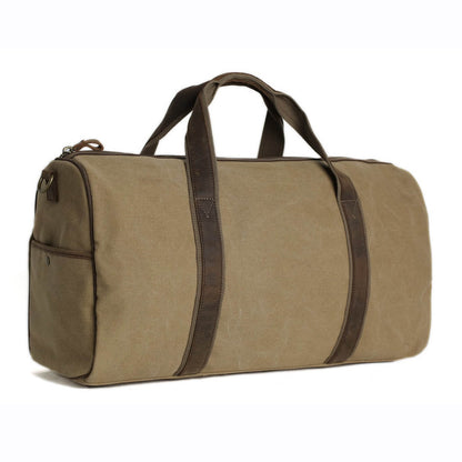 Handmade Waxed Canvas Duffle Bag, Travel Bag, Holdall Luggage Bag, Overnight Bag 9019