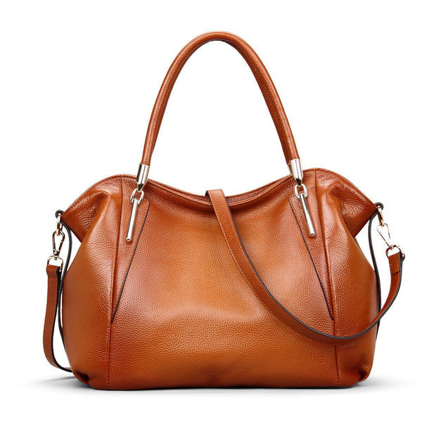 COLORS GENUINE FULL GRAIN LEATHER HANDBAGS FOR WOMEN LARGE DESIGNER LADIES SHOULDER BAG SL9303 - ROCKCOWLEATHERSTUDIO