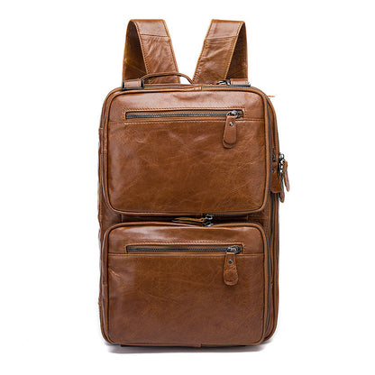 Best Brown Leather Backpack Cool Backpacks Laptop Backpack - ROCKCOWLEATHERSTUDIO