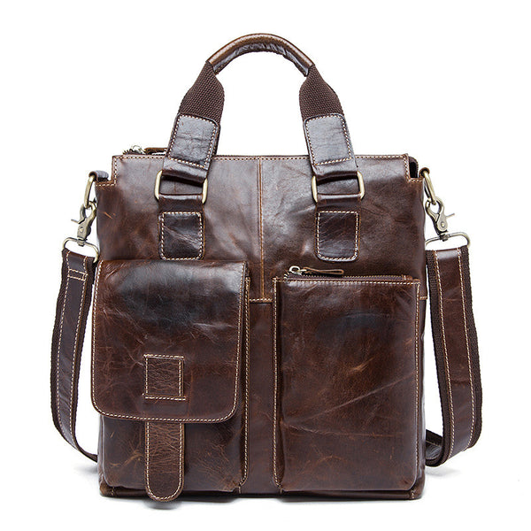 NEW ARRIVAL Men's Retro Leather Shoulder Bag, Business Top Grain Handbag 8259