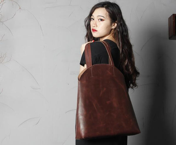 Handmade Leather Shoulder Bag For Women SCY10 - ROCKCOWLEATHERSTUDIO