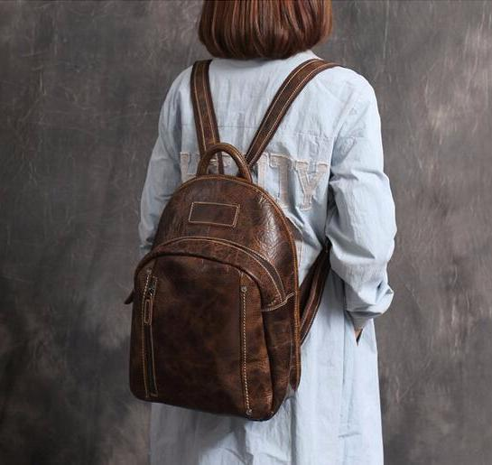 New Arrival Fashion Bag Vintage Backpack College Students School Bag XL01 - ROCKCOWLEATHERSTUDIO