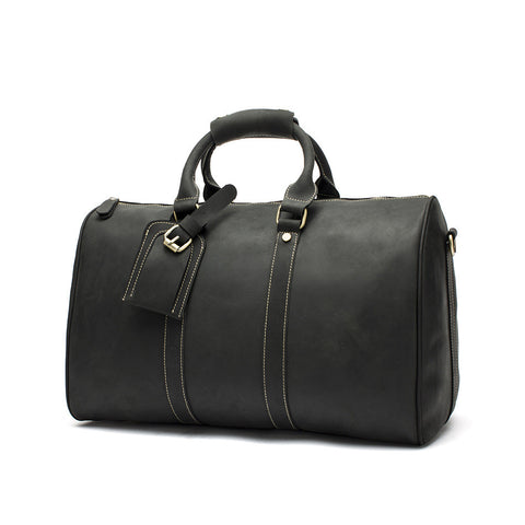 Handmade Leather Wearable Travel Bag, Large Capacity Men's Gym Bag, Duffle Bag 12026