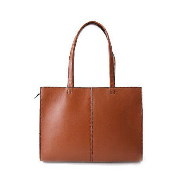 Handmade Vegetable Tanned Leather Tote Bag, Shoulder Bag ZB05 - ROCKCOWLEATHERSTUDIO