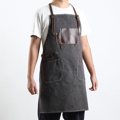 Retro Canvas Apron Shop Apron Cafe Apron Restaurant Apron Work Apron Server Apron FX888046