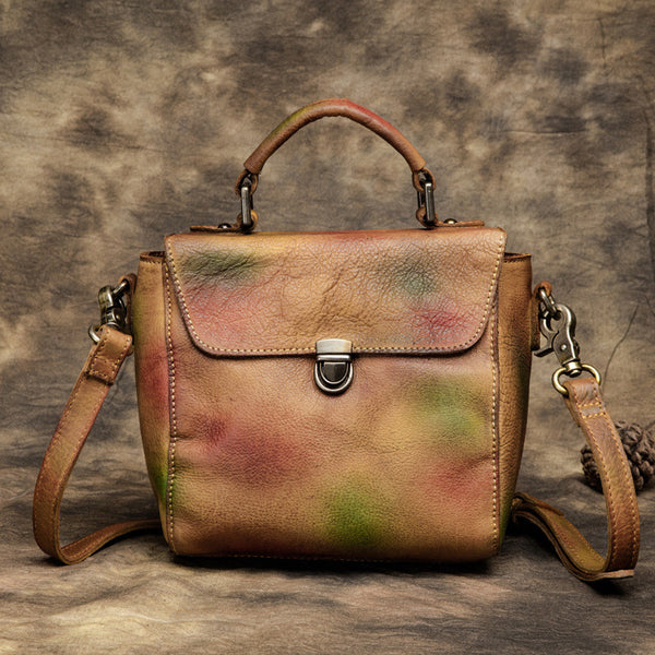 Ladies Shoulder Bag, Vintage Satchel Bags, Leather Handbags T2368 - ROCKCOWLEATHERSTUDIO