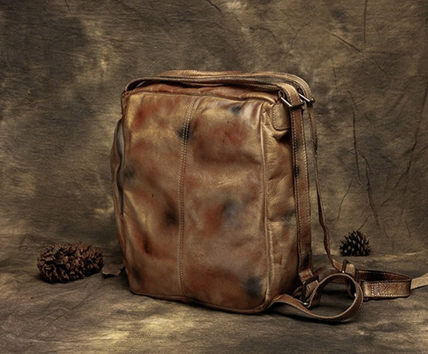 Multi-functional Handbags, Vintage Shoulder Bags, Leather Backpack T2372 - ROCKCOWLEATHERSTUDIO