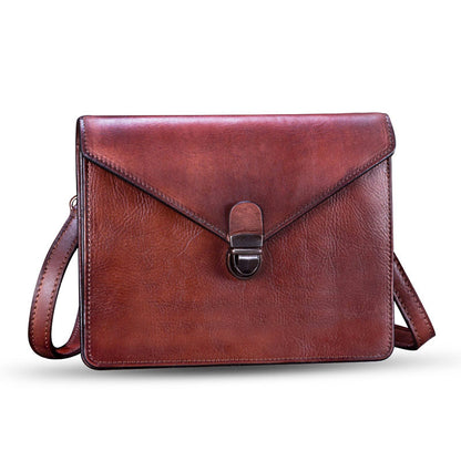 Vintage Handmade Leather Satchel Bag, Shoulder Bag, Purses For Women A0178