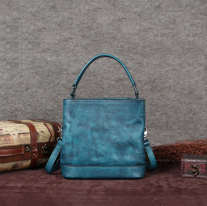 Handmade Full Grain Leather Women Shopper Bag, Ladies Designer Handbag F0004