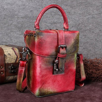 Handmade Full Grain Leather Satchel Bag, Shoulder Bag, Designer Handbag For Women A0141