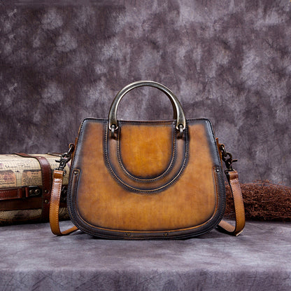 2017 Vintage Leather Satchel Bag, Designer Handbags For Women A0186