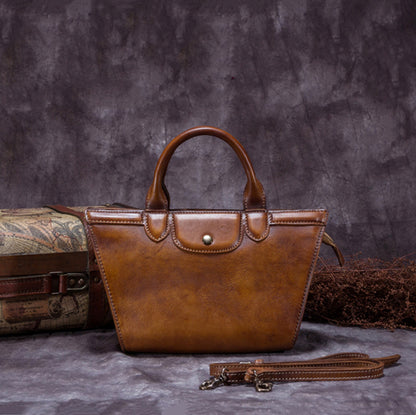 Full Grain Leather Shoulder Bag, Designer Handbag For Women A0153