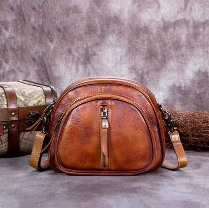 Handmade Vintage Full Grain Leather Shoulder Bag, Women Satchel Bag A0192