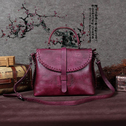 Handmade Leather Women Handbag, Messenger Satchel Bag A0005