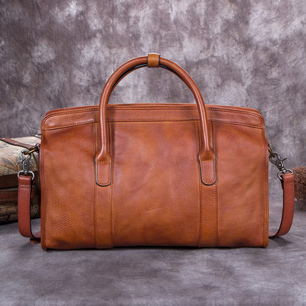 Vegetable Tanned Full Grain Leather Satchel Bag, Women Designer Handbag A0195 - ROCKCOWLEATHERSTUDIO