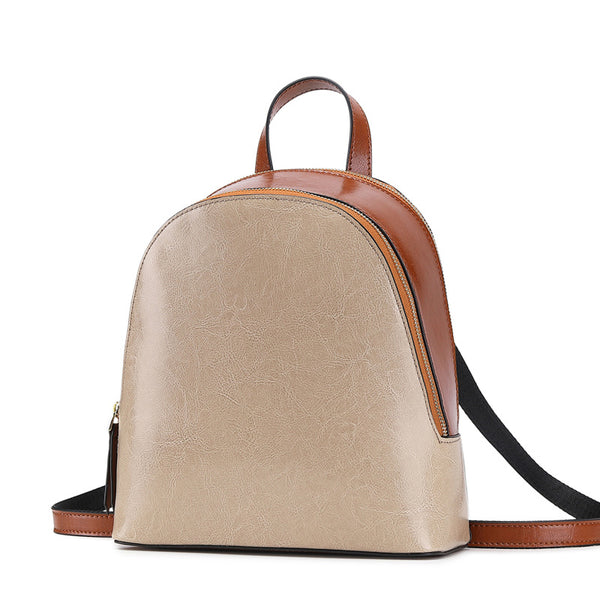 Top Grain Leather Backpack Women Travel Backpack Natural Cowhide Leather City Backpack College Backpack SX9666