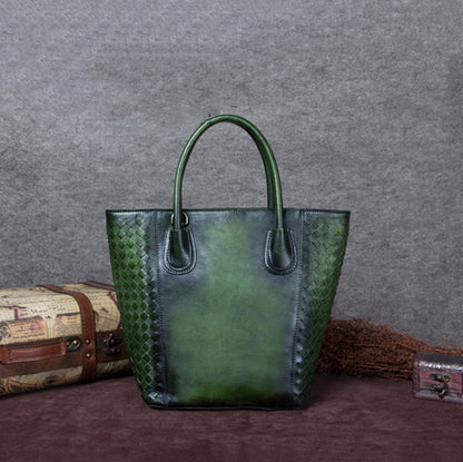 Handmade Vintage Leather Women Tote Bag, Shopper Bag, Ladies Handbag A0140