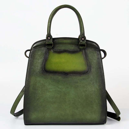Vintage Full Grain Leather Tote Bag, Shopper Bag, Handbags For Women A0116
